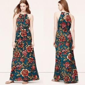 LOFT Paradise Floral Halter Maxi Dress NWT